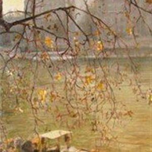 AU BORD, oil on canvas, 89 x 40 cm, 2009.