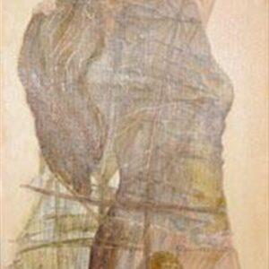CROSSWIND, 2008, oil on canvas, 91x42 cm