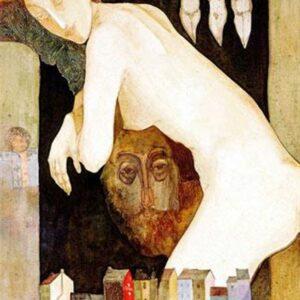 J'AI ACHETÉ UN APARTEMENT A PARIS, oil on canvas, 100x65 cm, 1990