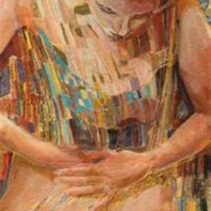 L'UNISSON, oil on canvas, 91x42cm, 2007.......SOLD