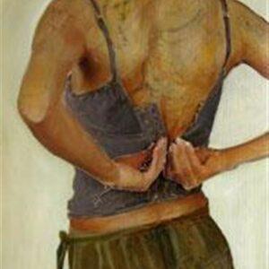LA BELLE, oil on canvas, 91x42 cm, 2008