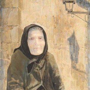 NONA, 2012. oil on canvas, 89 x 40 cm