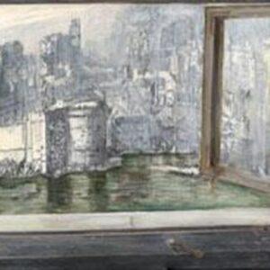 OLD WINDOW, oil on canvas, 42 x 91 cm, 2009