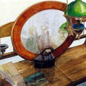 SCH�NBRUNN POSTCARD, oil on canvas, 55x120 cm, 2008