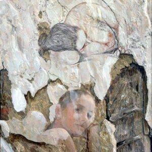 VINEYAR`S FAIRY, oil on canvas, 59x40 cm, 2012....SOLD
